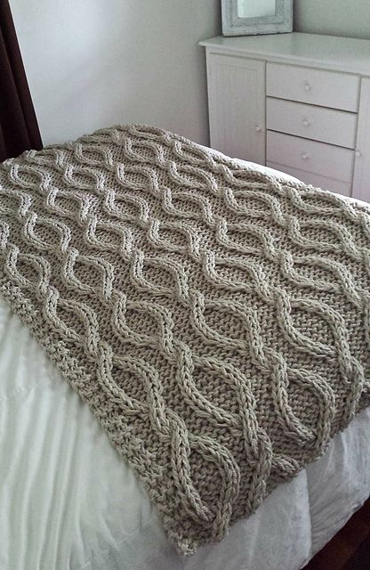 Ravelry: Infinity Cable Knit Blanket pattern by Allison Huddleston