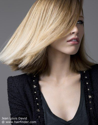 contemporary long bob hairstyle