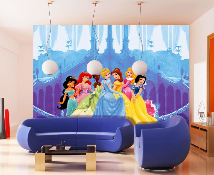 Cinderella and Princess Disney Wallpaper Mural By WallandMore. XXL Murals for your kid's room.
