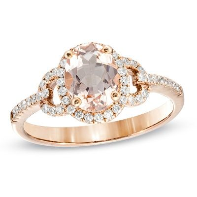 A morganite, diamond, & rose gold beauty.