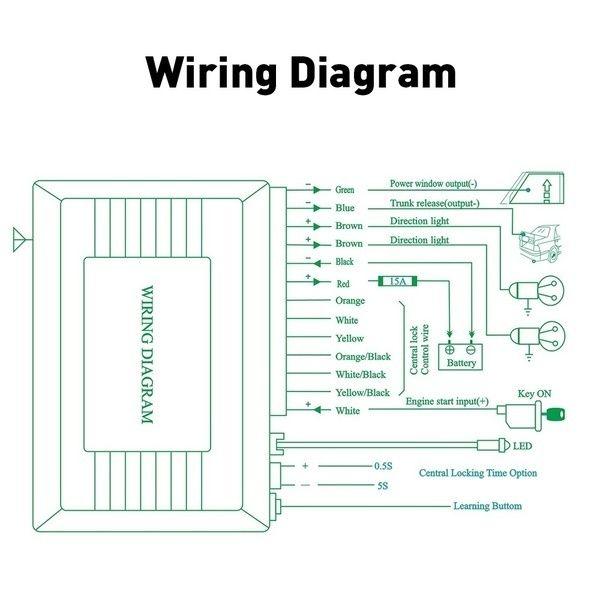 Keyless Entry Remote Central Locking Wiring Diagram