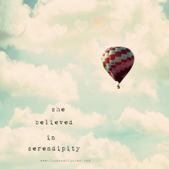 She believed in serendipity. Hot air balloon photo by Susannah Tucker on Etsy.
