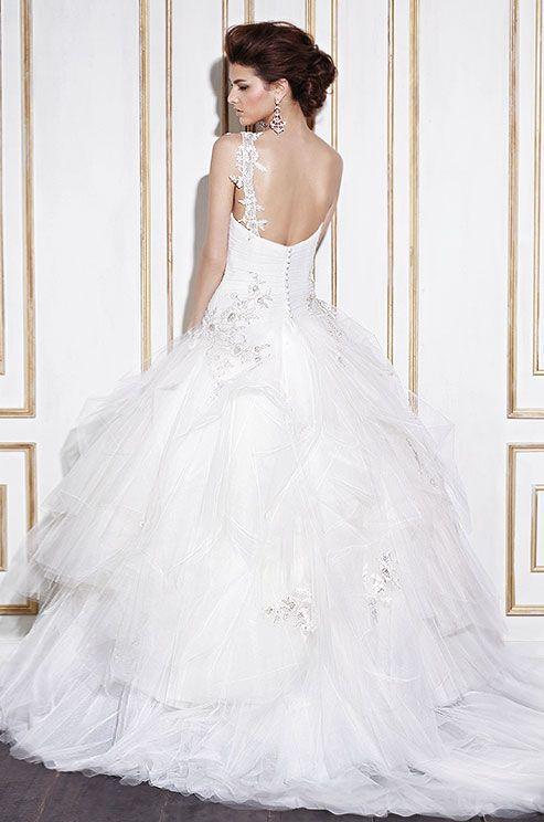 256 best tulle wedding dresses images on pinterest short for Julian alexander wedding dresses