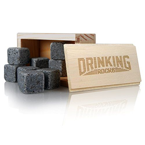 From 11.99 Whisky Stones - Chills Your Drink Without Dilution - Granite Whisky Rocks - Perfect For Whiskey Drinkers - Set Of 8 Ice Stones