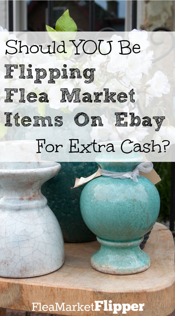 Have you ever thought about buying thrift store, flea market and yard sale items and reselling them for a profit? Maybe you should!