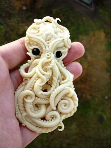 kraken, octopus, Cthulhu fhtagn polymer clay by DARiyaKUTEPOVA.deviantart.com on @deviantART