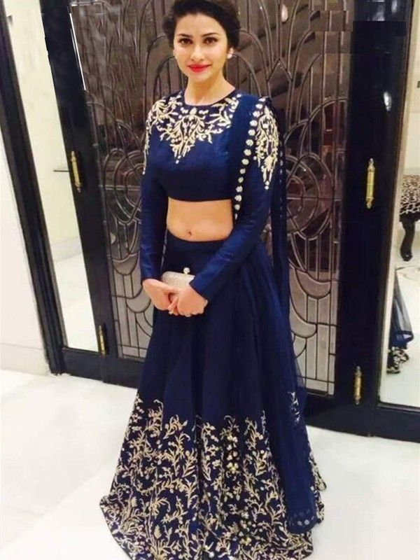 Picturesque Navy Blue Georgette Designer Lehenga Choli - Designer - Lehenga Choli