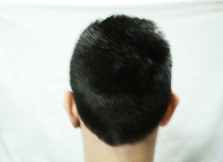 After the cut - Back side. Modelo: Matias.