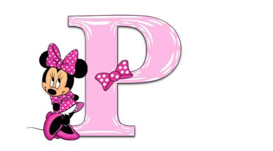 Minnie Mouse alphabet, a-z, free alphabet, pink alphabet, png alphabet