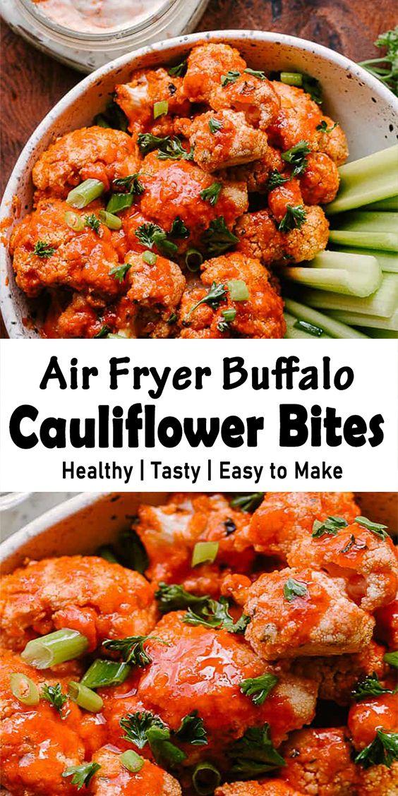 Air Fryer Buffalo Cauliflower Bites in 2020 Buffalo