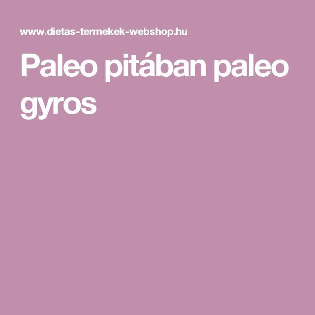 Paleo pitában paleo gyros