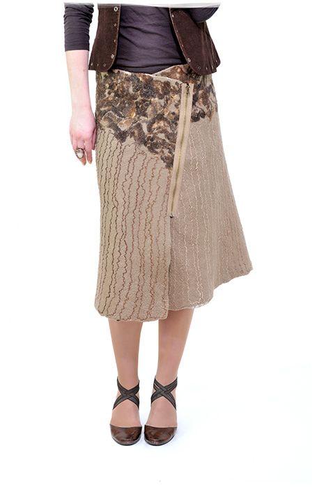 Felted skirt