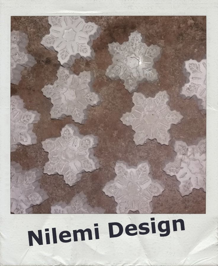 Concrete snowflake by NilemiFI on Etsy