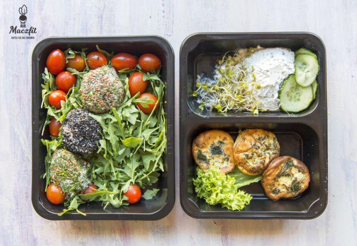 Przygotowani do pracy? Bo my tak! ;) #lunchbox #maczfit #salad #ogórek #muffinki #rukola #warzywa #fit #inspiracja #food #mealbox #catering #maczfit