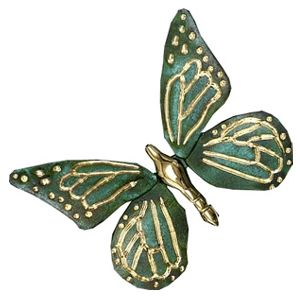 Michael Healy Butterfly Brass/Green Patina Door Knockers The Monarch  Butterfly Door Knocker Is Sand