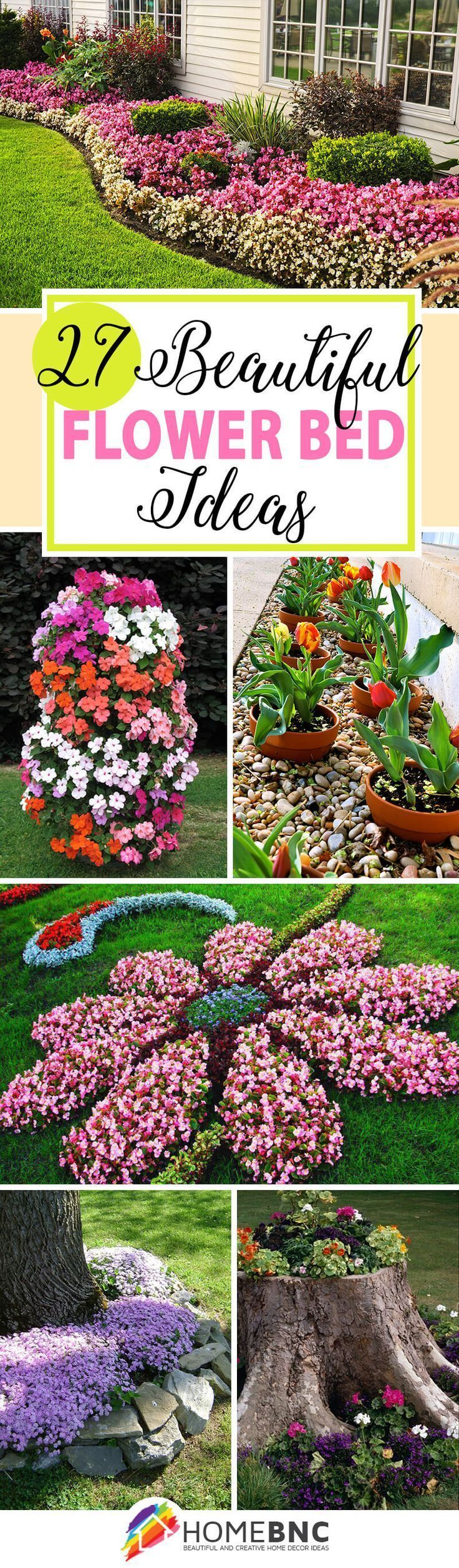 Backyard flower garden - 27 Gorgeous And Creative Flower Bed Ideas To Try