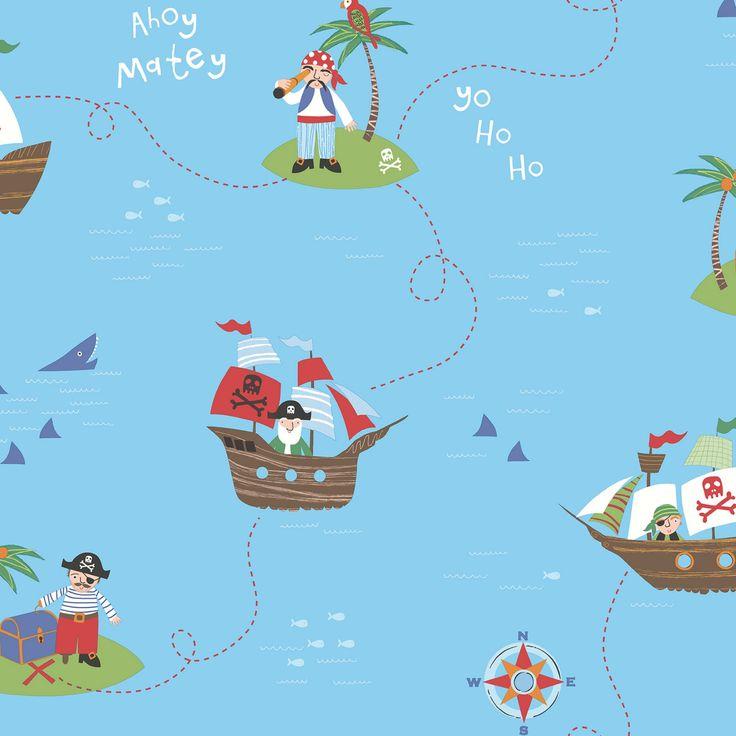 Brewster Funny Pirates Wallpaper - 2679-002101
