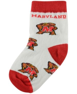 For Bare Feet Babies' Maryland Terrapins Socks - Red Infant