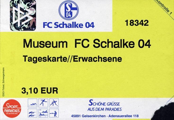 Museum Schalke 04, 2003, Gelsenkirchen #Schalke04 #Ticket
