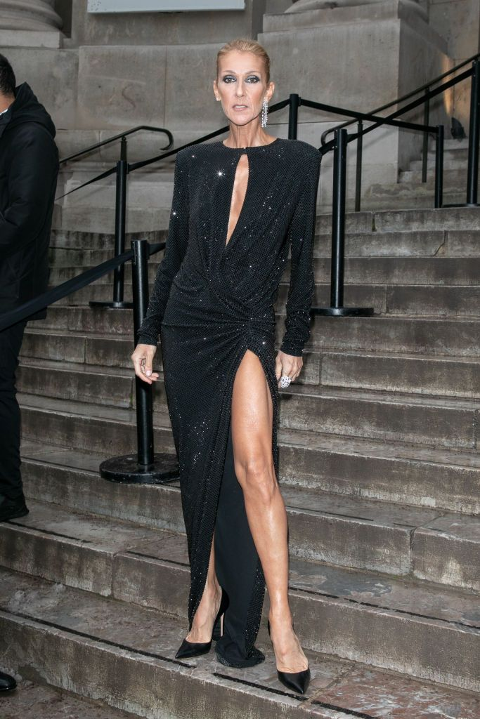 outlet top design classic style Singer Celine Dion arrives to attend the Alexandre Vauthier ...