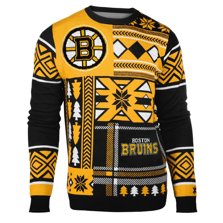 "Boston Bruins Official Men's NHL """"Ugly Sweater"""" (Expected For September Shipment)"