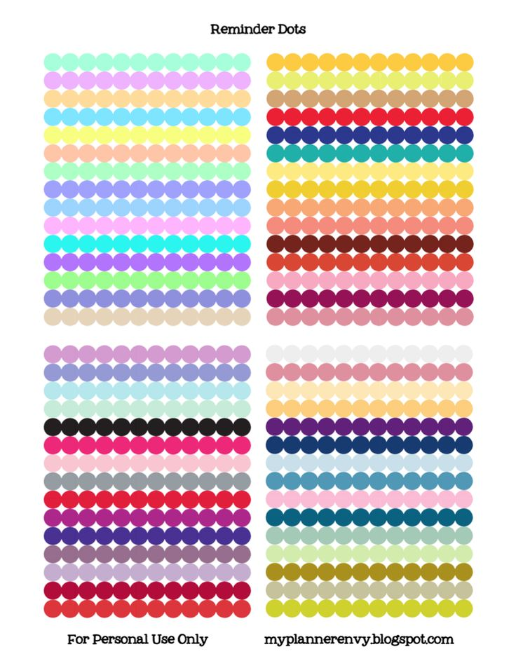 My Planner Envy: Reminder Dot Stickers - Free Planner Printable Stickers