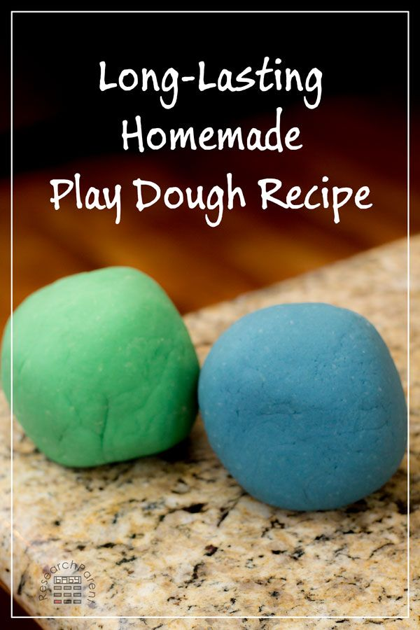 Super Long-Lasting Play Dough Recipe and Step-by-Step Picture Tutorial via @researchparent