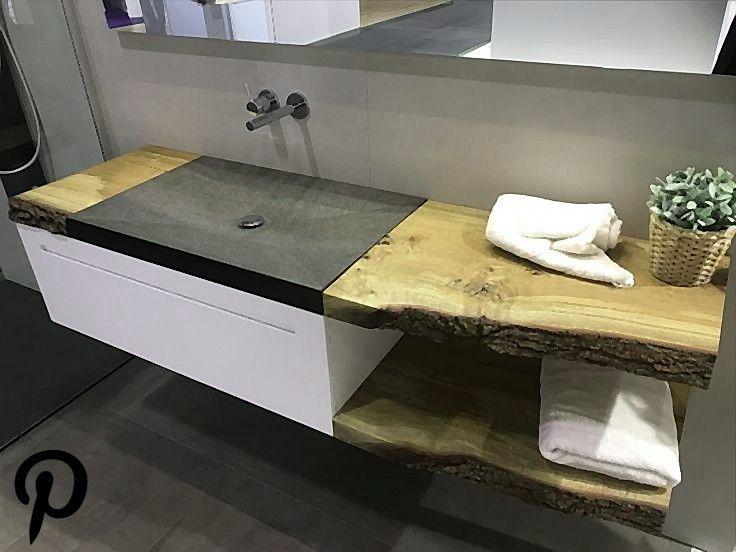 Abdeckung Asthetisches Auf Aus Badezimmer Echtholz Elegantes
