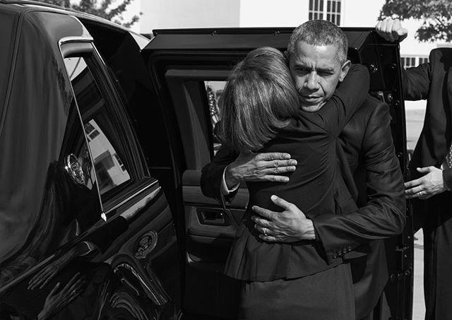 White House photos capture Obama's visit.