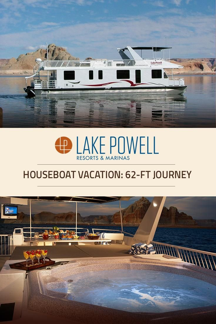 Lake Powell Luxury! The Journey Houseboat, a nimble 62-ft boat, is everything you've ever wanted in a luxurious, state-of-the-art houseboat with the posh comfort of three staterooms - and a hot tub!