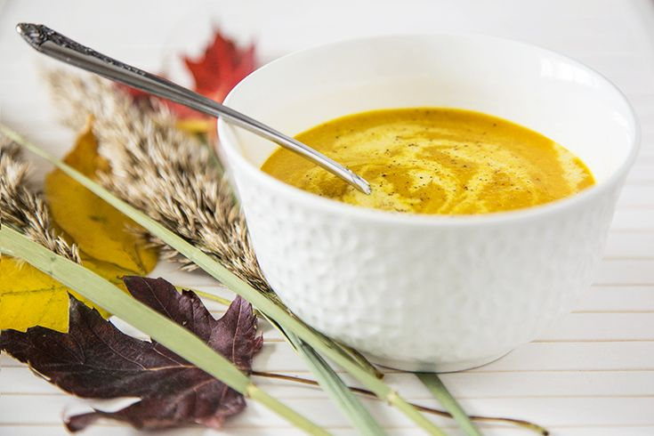 Potage de chou-fleur et carottes au cari #recettesduqc #soupe #potage #carotte