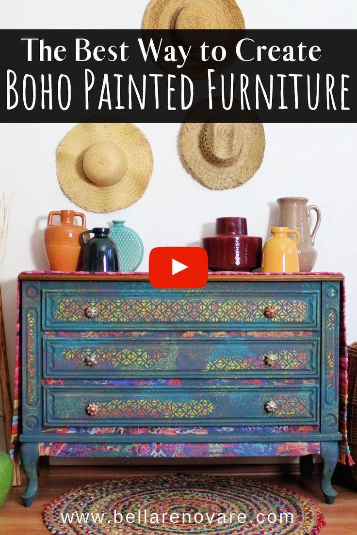Boho Painted Furniture in 7  Colorful furniture, Furniture