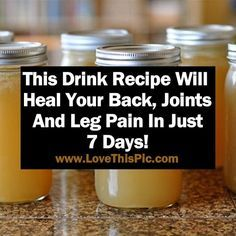 Got a Back, Joint Or Leg Pain? Try this Drink for 7 Days to Heal it!