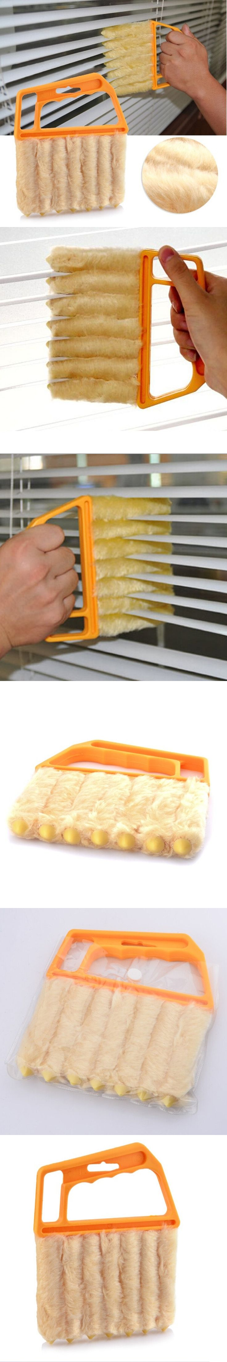 New Vertical Window Blinds cleaning brush  7 Shape Hand Held washable microfiber cleaning cloth window cleaner