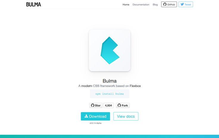 Bulma CSS Framework - A modern CSS framework based on Flexbox.