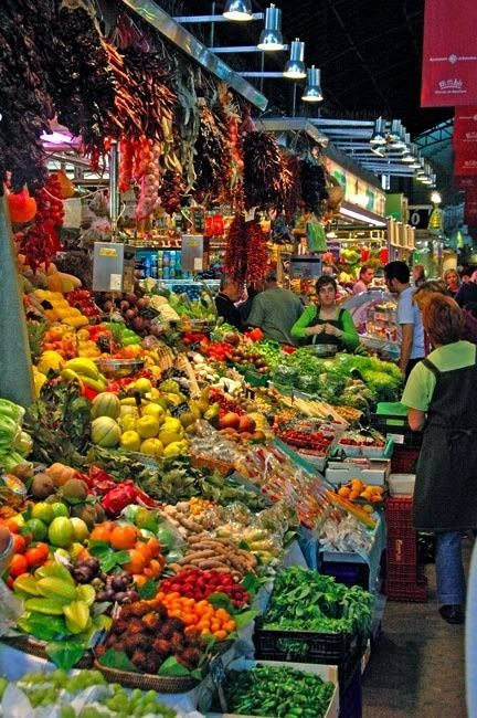 La Boqueria, Spain - A hundred year old food market. . .