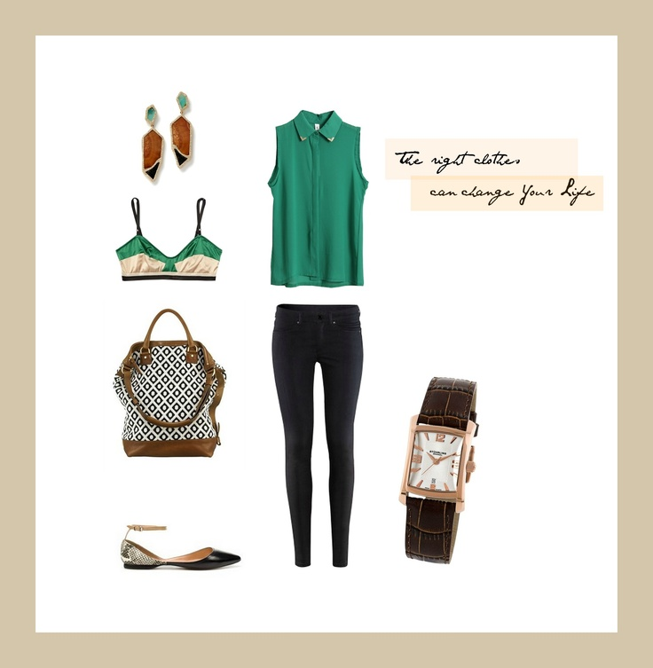 #set #outfit #green #black #brown #stylishThe right clothes can change your life / by Taki Trik