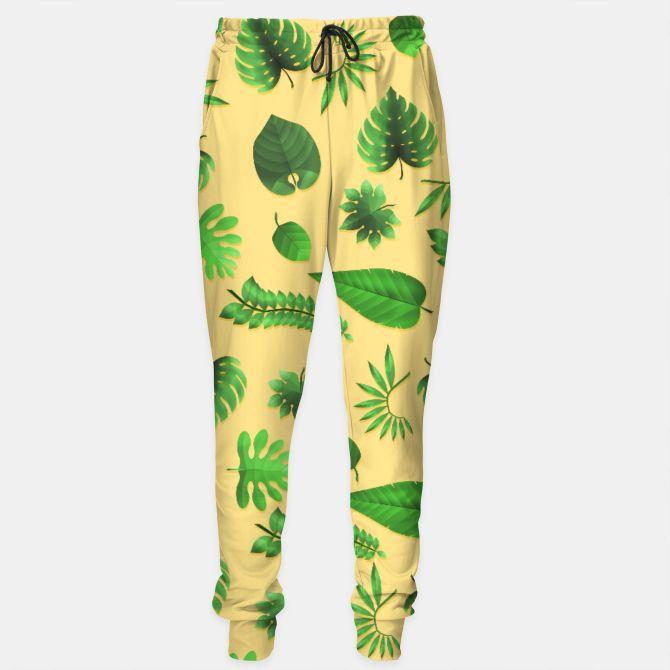 Tropical Leaves Sweatpants, Live Heroes