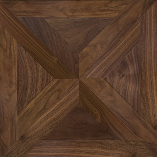 Modular parquet Salute Noce Royal collection, Dimensions:  538*538 mm 753*753 mm, Species: walnut, Grade of wood: Select, Natur.