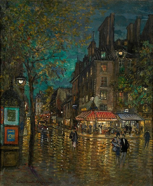 Paris, Grands Boulevard by Konstantin Korovin (Russian 1861 - 1932)