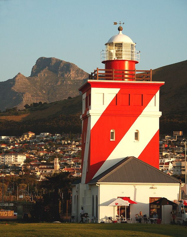 The Green Point Lighthouse, often unofficially referred to as the Mouille Point Lighthouse, is the oldest lighthouse in South Africa, having been first lit on 12 April 1824. Its light can be seen 25 sea miles out to sea.