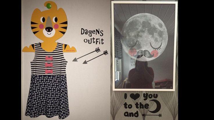 Vinyl Dekor barnrum moon dagens outfit kids