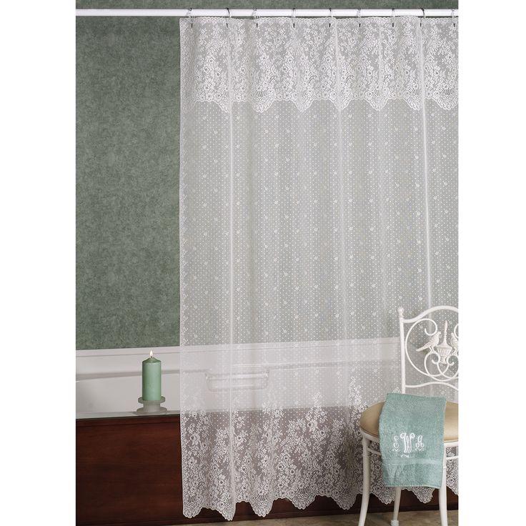Floret Laces Shower Curtain  72 x 72