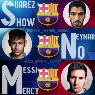 Messi , neymar , suarez , barcalona