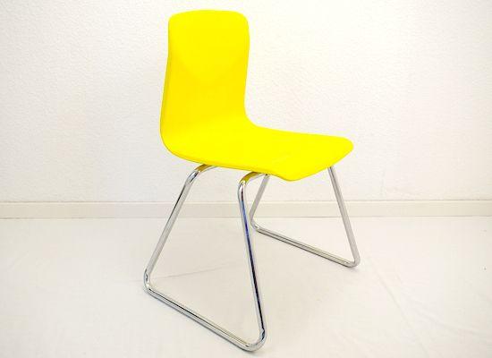 Toller Schalenstuhl in gelb modern, recycelt von Schlüter Kunst und Design - Stühle, Kommoden, Regale, Modeschmuck auf DaWanda.com