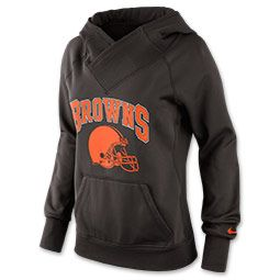 Women's Nike Cleveland Browns NFL Wildcard All Time Rib Hoodie