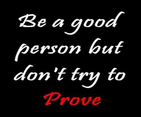 Dont try to prove