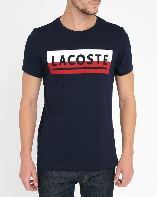 5739e135 LACOSTE Blue Vintage Lacoste Logo T-Shirt #MensT-shirts   Mens T ...