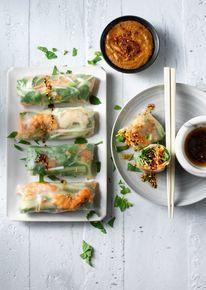 Springrolls met Japanse sausjes