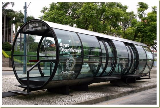 Interesting Bus-Stops around the World | Curitiba Brazil